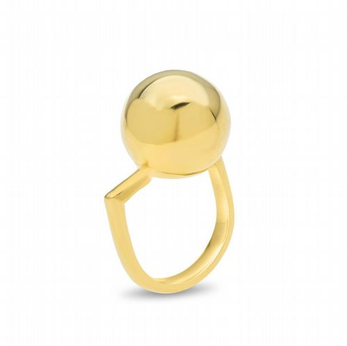 AMAI Jewellery - Off Centre Ball Ring - Gold
